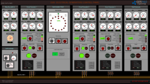 SERS Engine Control Room: Electrical Generators Control Panel